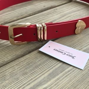 NEW JUICY COUTURE WOMEN'S BELT RED/GOLD L/XL